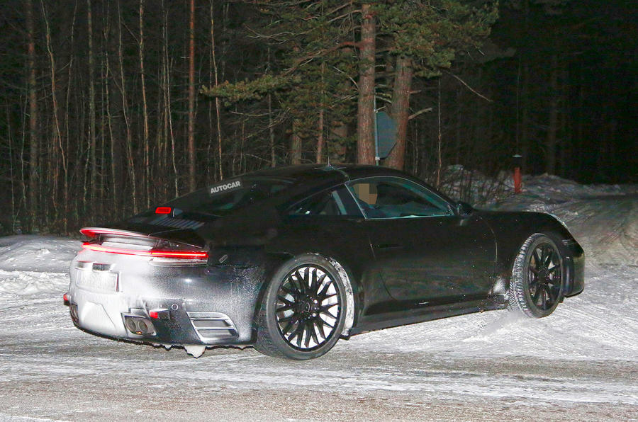 2019 Porsche 911 tail lights and side profile