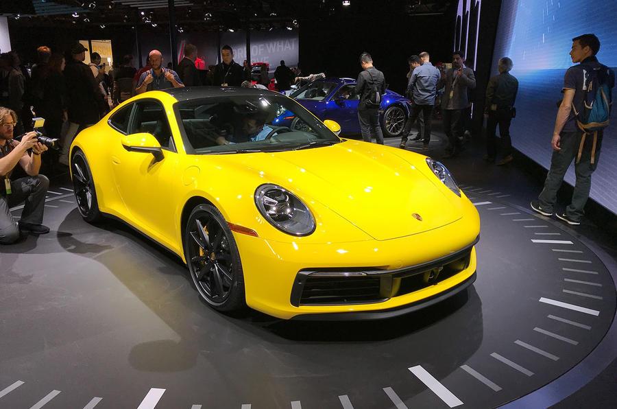 Porsche 911 992 at LA motor show