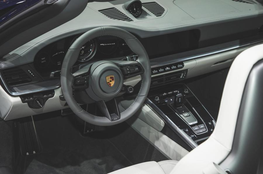 new 190mph porsche 911 cabriolet makes public debut autocar. Black Bedroom Furniture Sets. Home Design Ideas