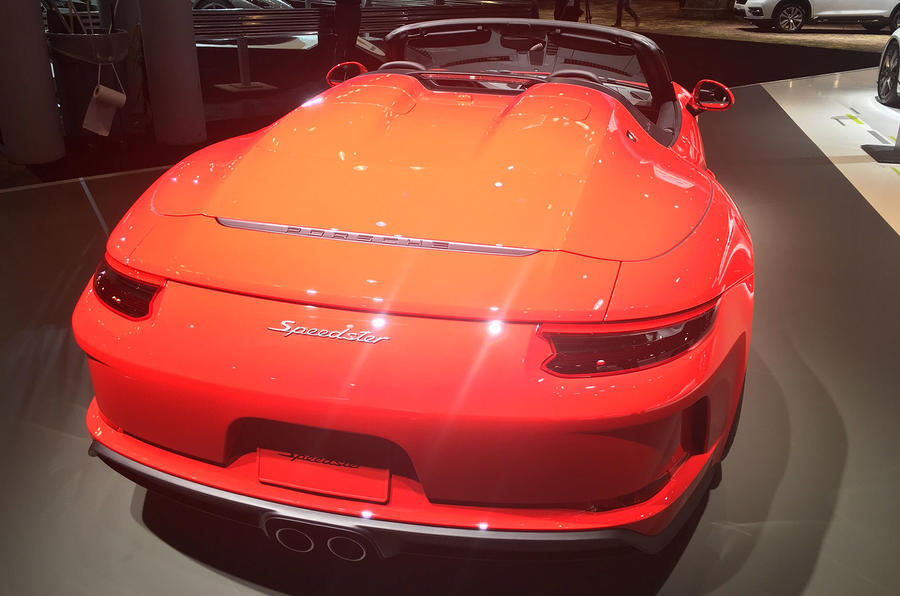 Porsche 911 Speedster 2019 - New York motor show - back