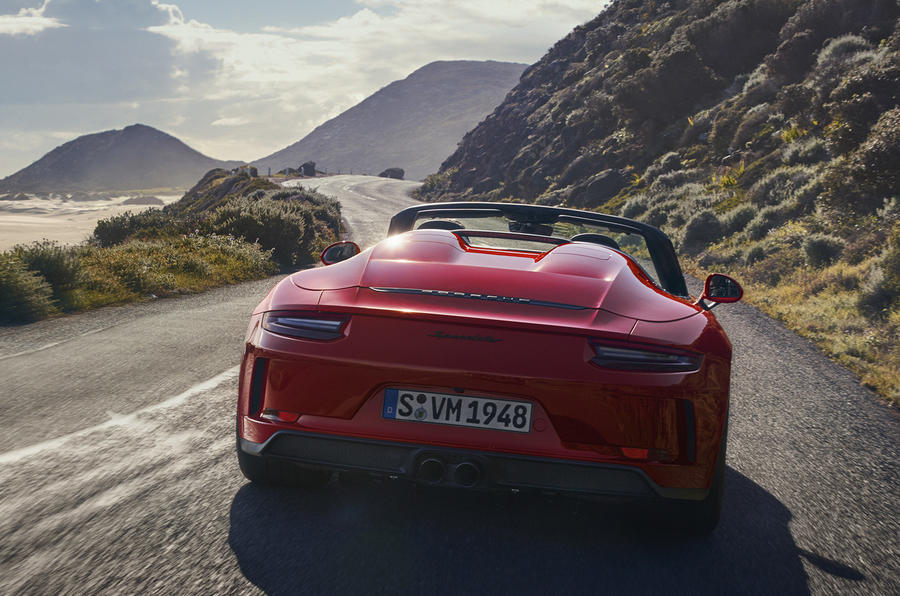 Porsche 911 Speedster 2019 reveal - rear