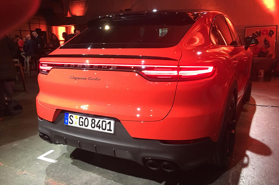 Porsche Cayenne Coupe 2019 reveal event - rear
