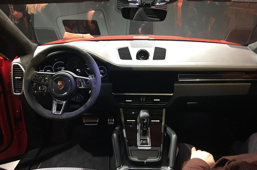 Porsche Cayenne Coupe 2019 reveal event - dashboard