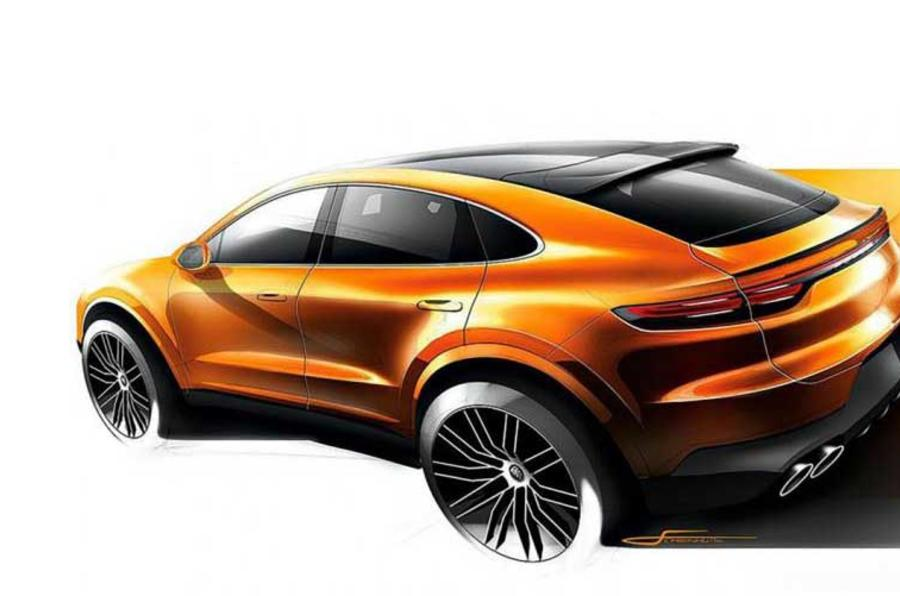 Porsche Cayenne Coupe official sketch