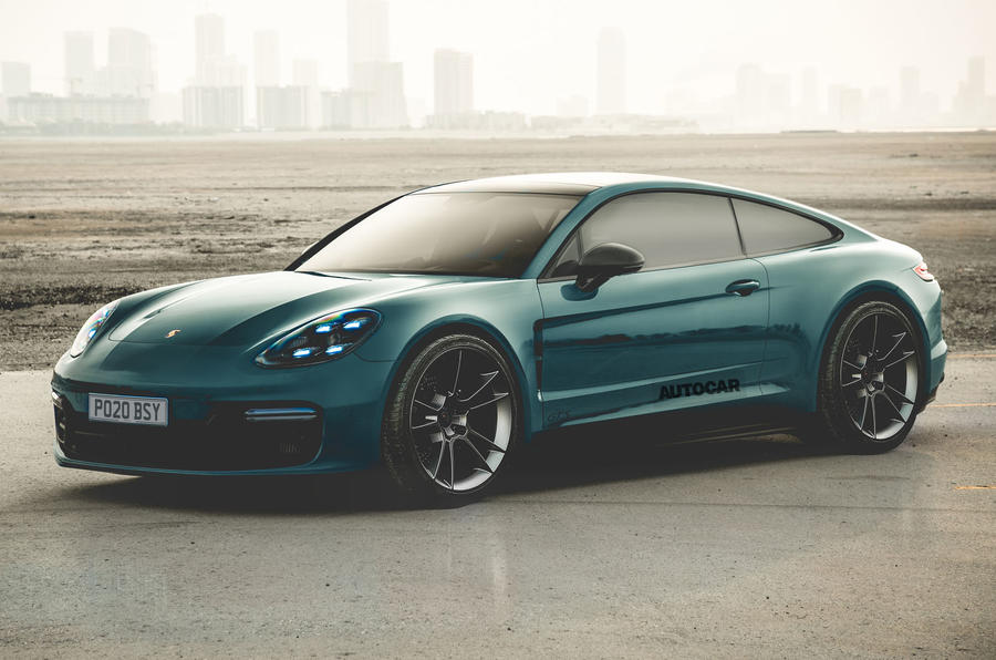 2020 Porsche Panamera two-door coupe render