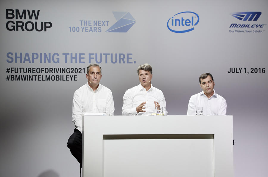 BMW Intel Mobileye press conference