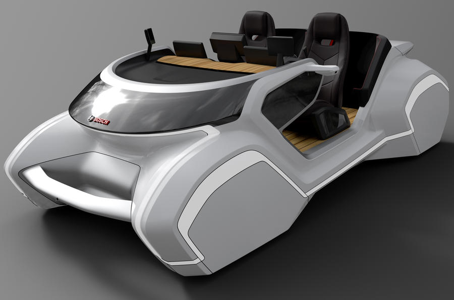 bosch demonstrates car technology of the future with ces. Black Bedroom Furniture Sets. Home Design Ideas