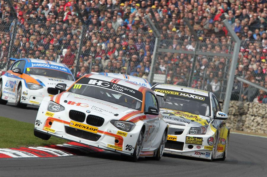 Three-time world touring car champion Andy Priaulx was a BTCC race winner in 2015