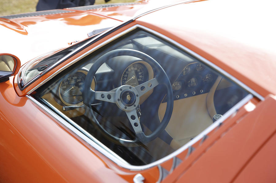 Stylish interior of the Lamborghini Miura