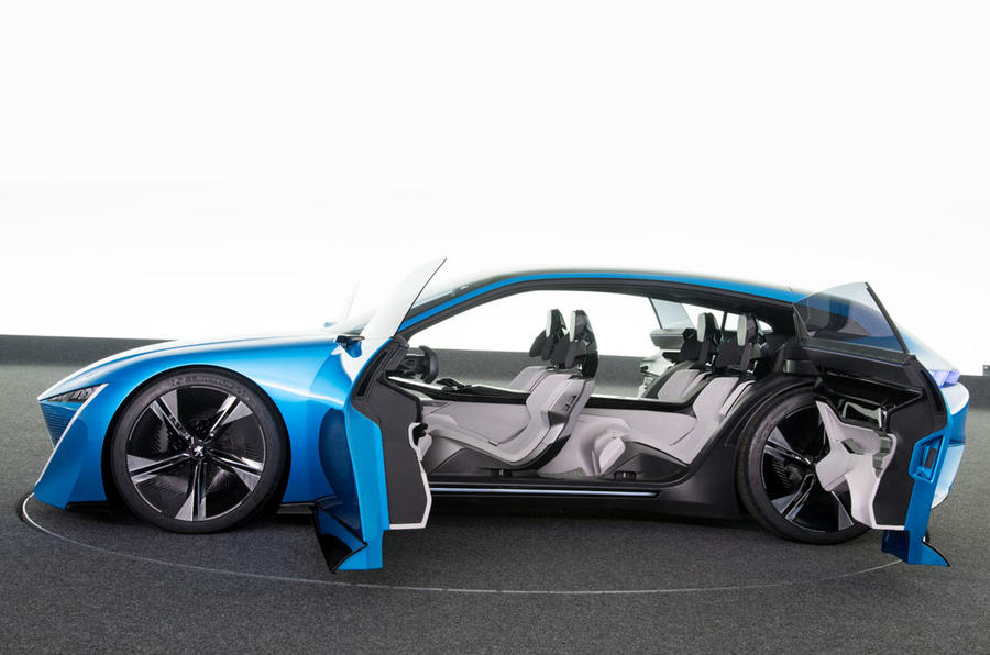 Peugeot Instinct concept side with doors open