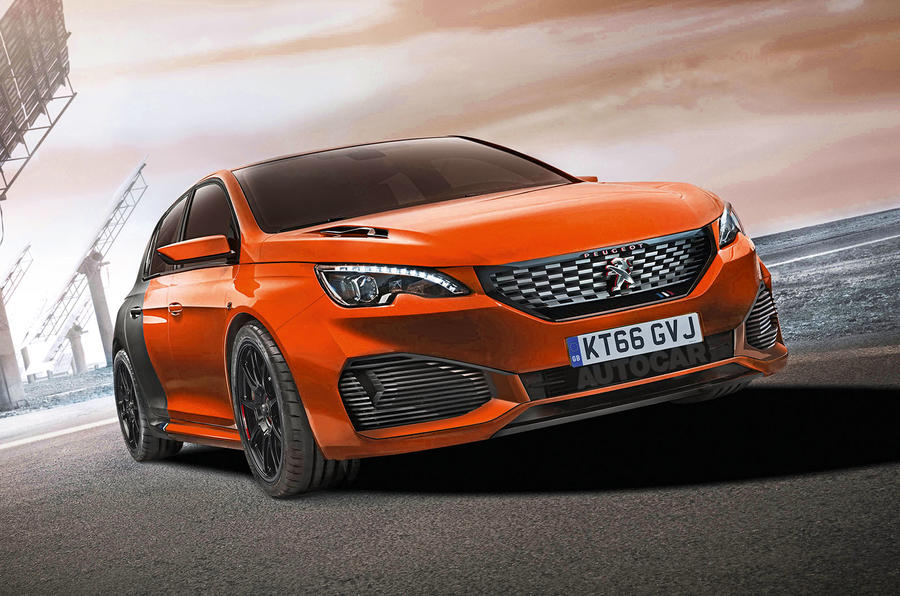 hybrid peugeot 308 r mega hatch set to rival ford focus rs autocar. Black Bedroom Furniture Sets. Home Design Ideas