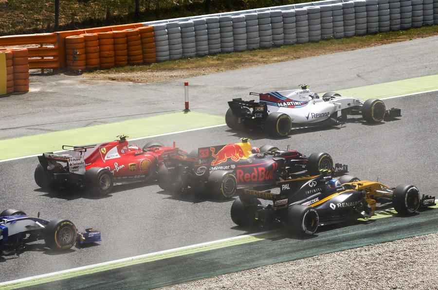 Raikkonen crashed out of Spanish Grand Prix