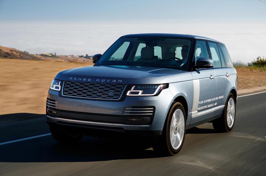 range rover p400e phev prototype review autocar. Black Bedroom Furniture Sets. Home Design Ideas