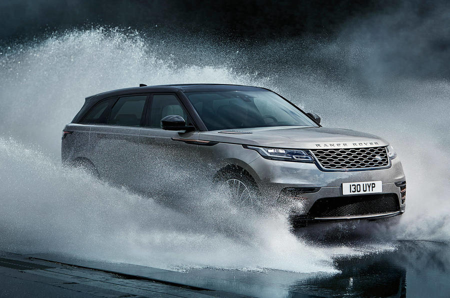 range rover velar action shot
