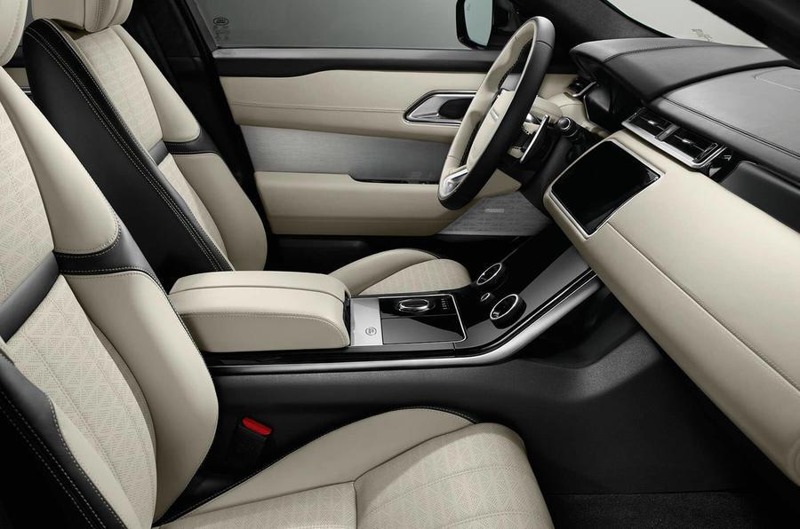 range rover velar interior passenger side
