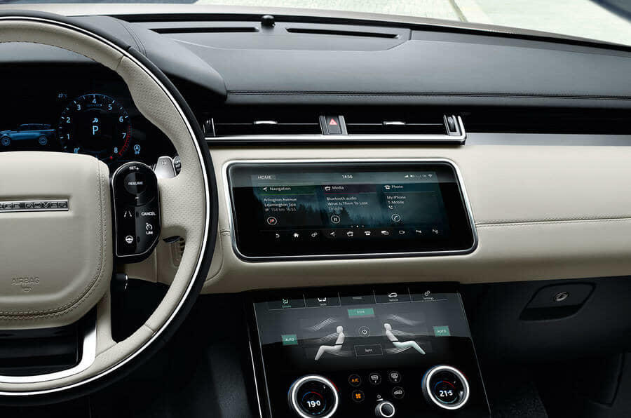 velar cream interior dash
