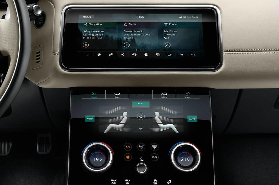range rover velar interior infotainment