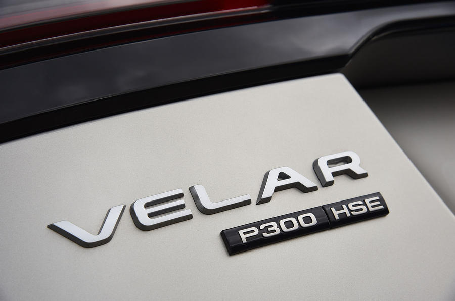 Range Rover Velar badge