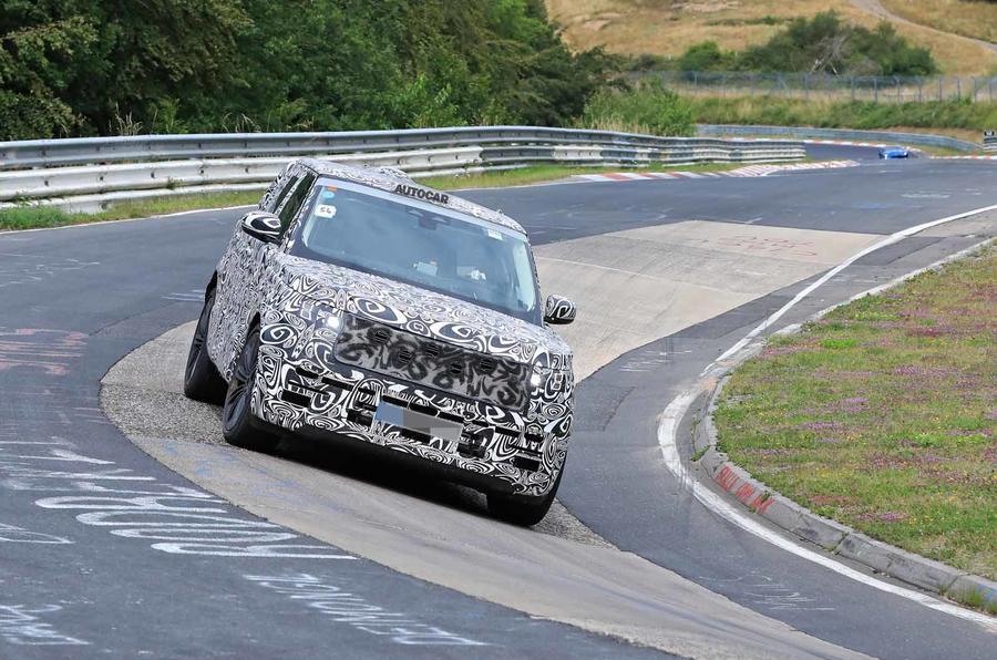 Range Rover prototype Nurburgring front carousel