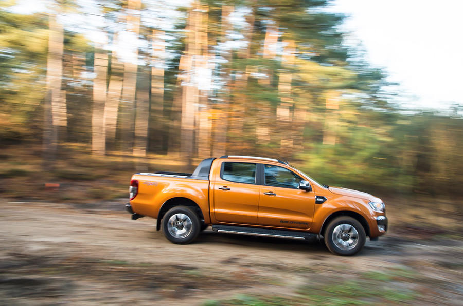 Ford Ranger Wildtrak off-roading