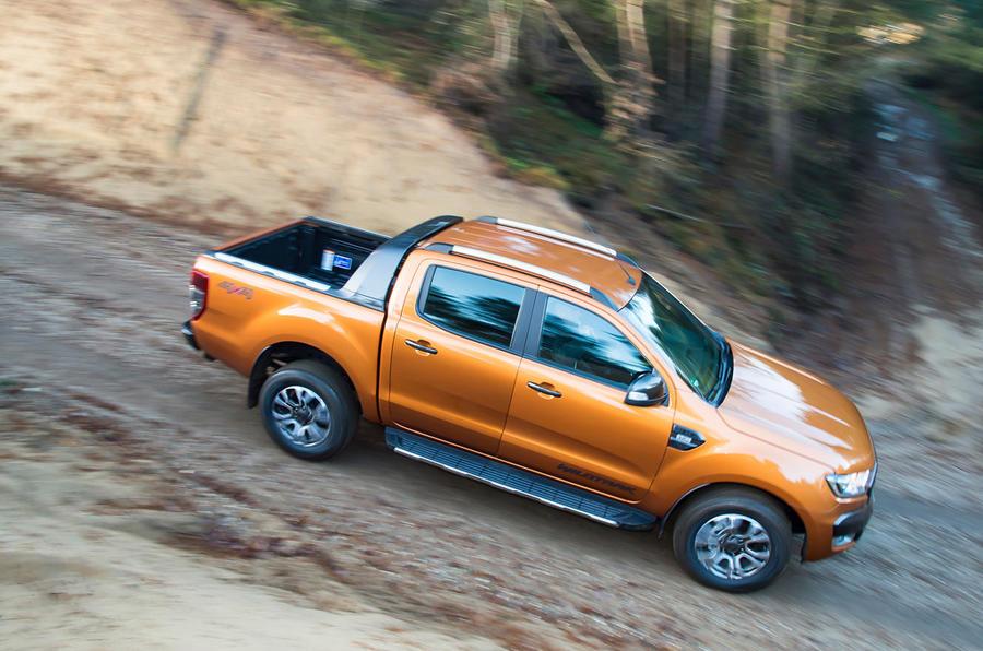 Ford Ranger WIldtrak down hill