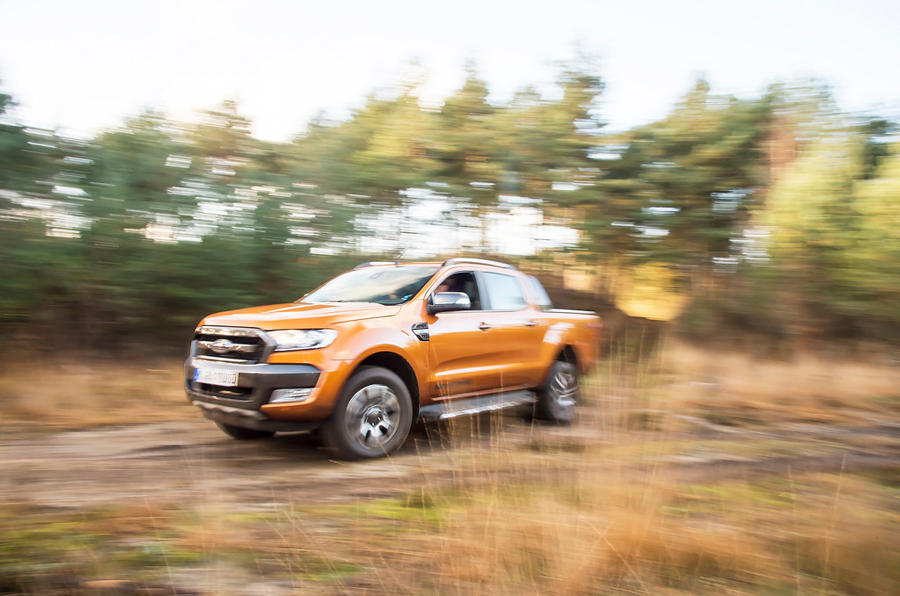 Ford Ranger Wildtrak rumbling off-road