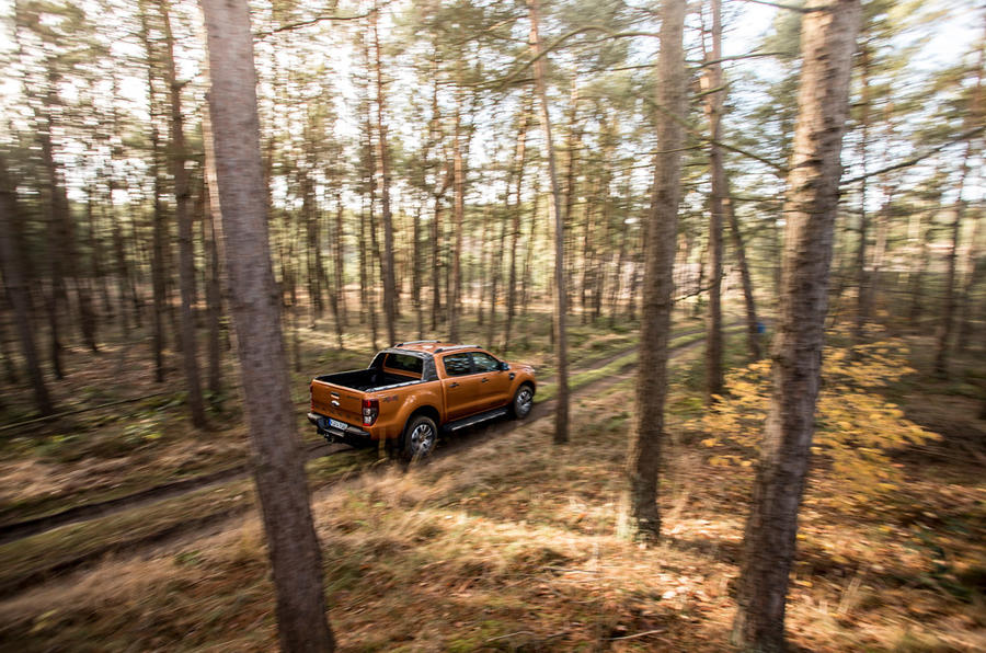 Ford Ranger Wildtrak in the woods