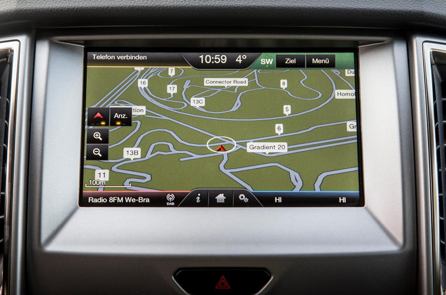 Ford Ranger Wildtrak sat nav
