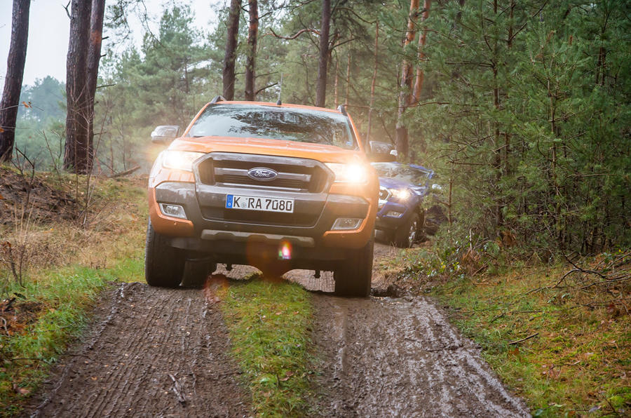 Ford Ranger Wildtrak mud tracks