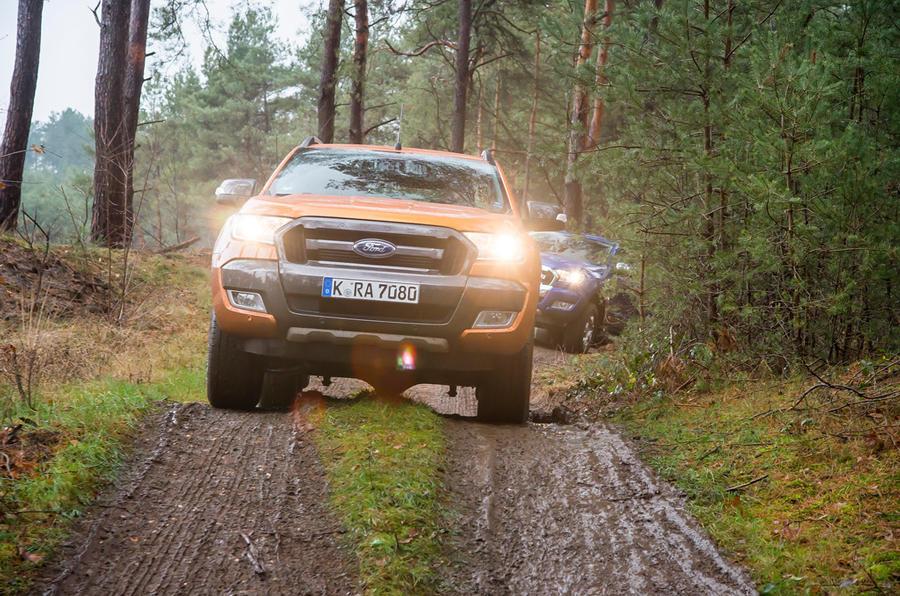 Ford Ranger Wildtrak mud tracks