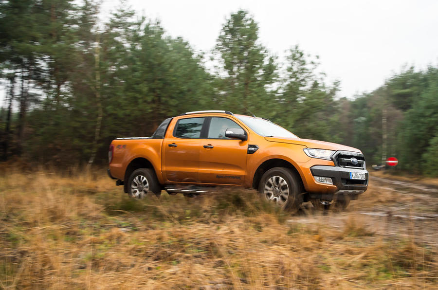 Ford Ranger Wildtrak in thick grass