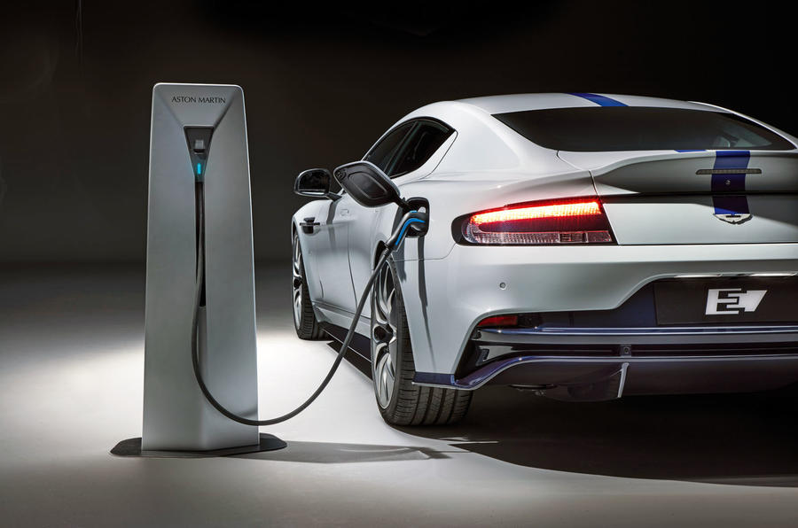 2019 Aston Martin Rapide E  - filling up