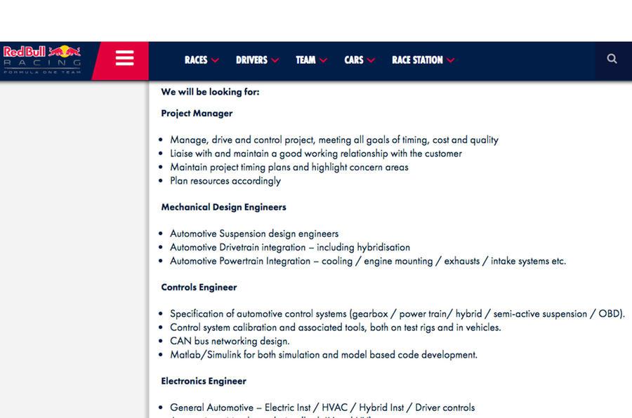 Red Bull Racing jobs