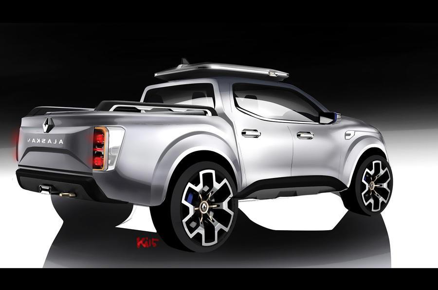 renault alaskan production model leaks ahead of reveal autocar. Black Bedroom Furniture Sets. Home Design Ideas