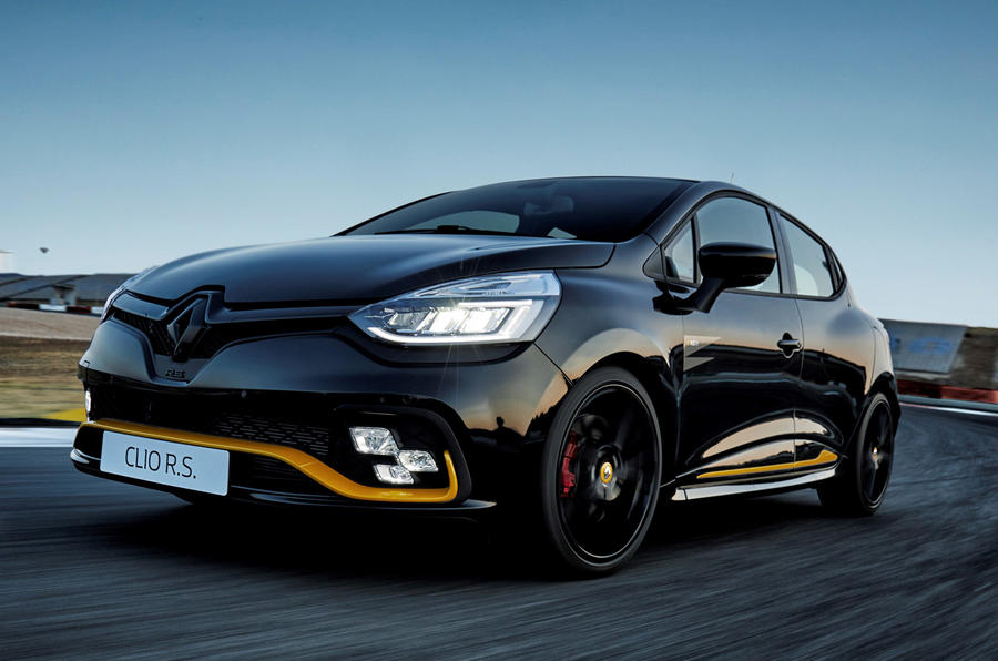 limited run renault clio rs 18 launched with 220 trophy chassis autocar. Black Bedroom Furniture Sets. Home Design Ideas