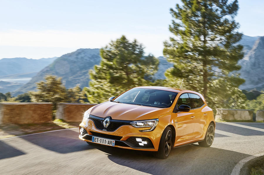 Renault Mégane RS on the road