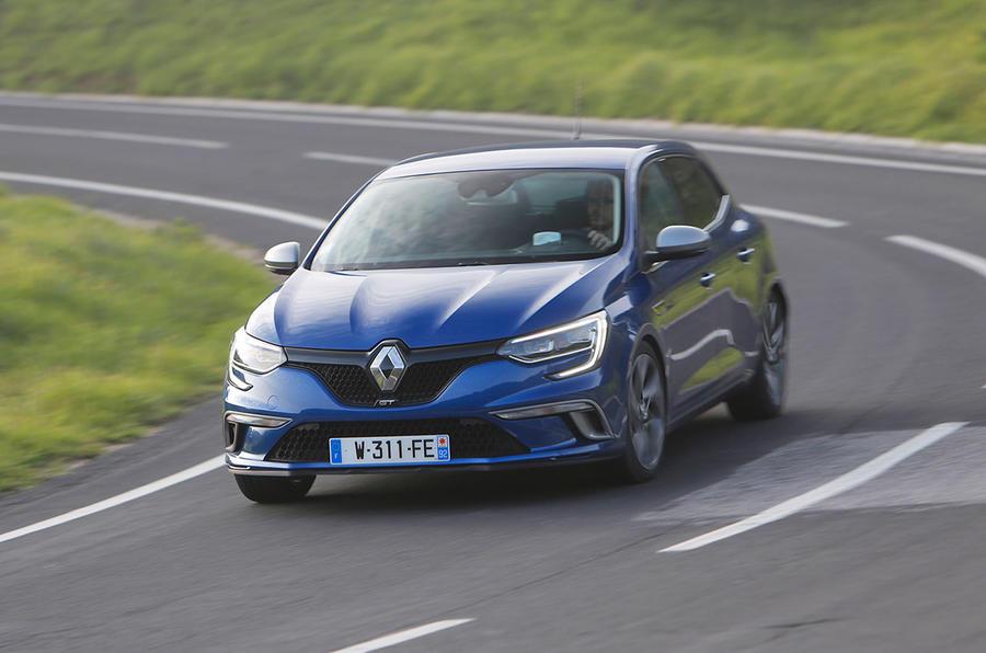 Renault Megane GT cornering
