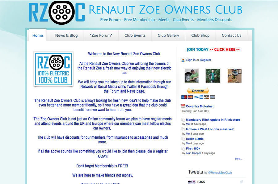 Renault Zoe Owners Club