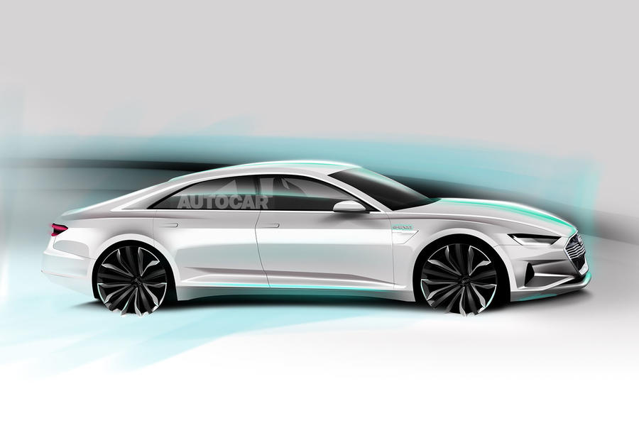 Audi A9 e-tron as imagined by Autocar