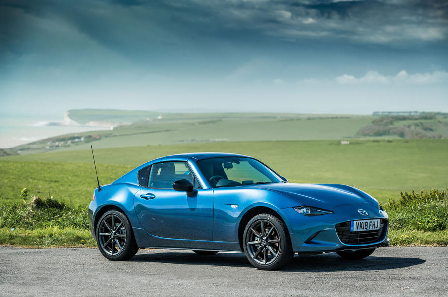 mazda mx 5 rf sport black launched as limited run variant autocar. Black Bedroom Furniture Sets. Home Design Ideas