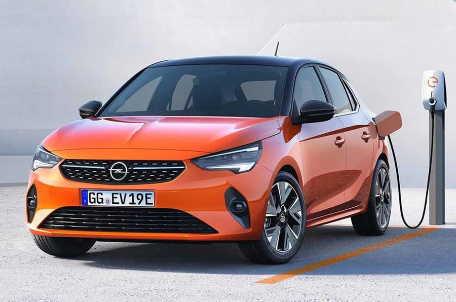Vauxhall eCorsa front three quarter leaked photo