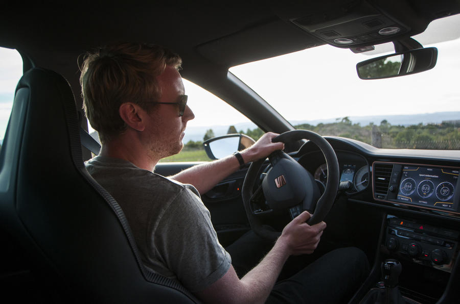 Ricky Lane driving the Seat Leon Cupra R