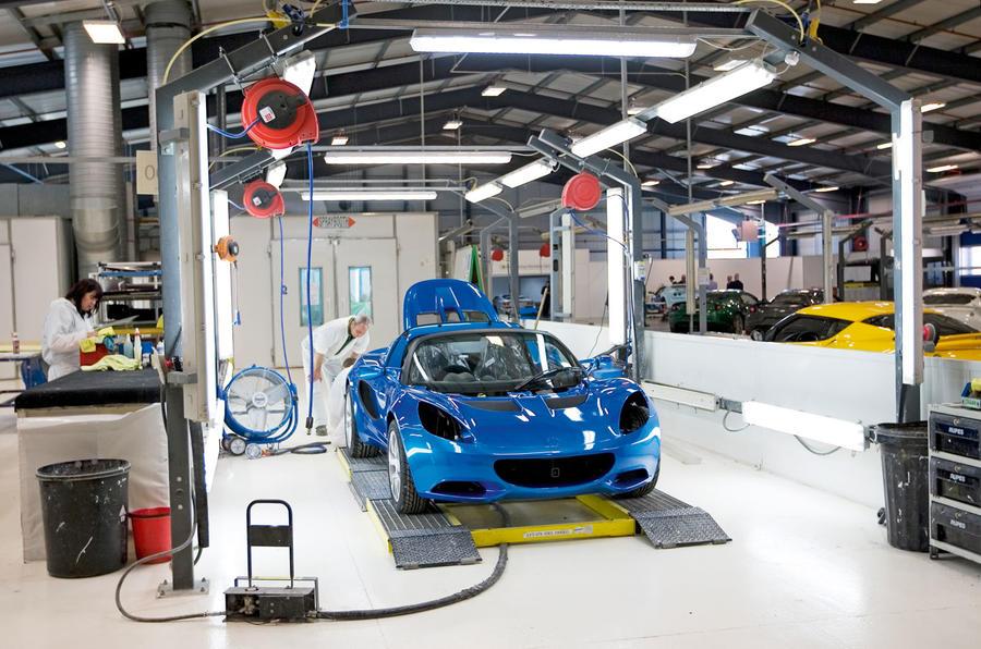 Lotus being built