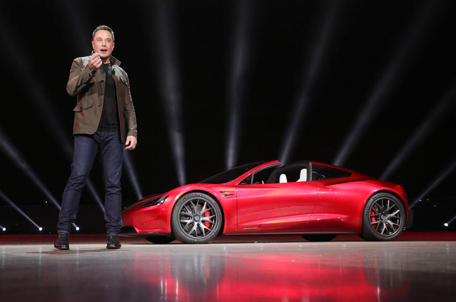 Elon Musk reveals new Tesla Roadster