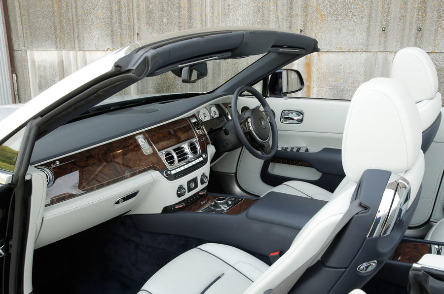 Rolls-Royce luxurious front seats