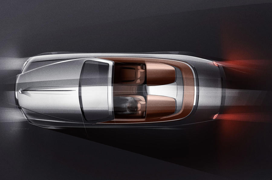 Rolls-Royce Dawn Silver Bullet 2020 - static overhead