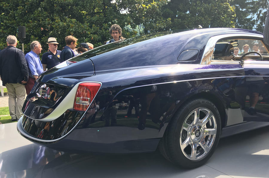 rolls royce bespoke sweptail takes to goodwood hillclimb autocar rh autocar co uk