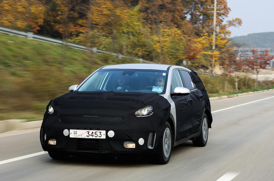 Kia Niro on the road