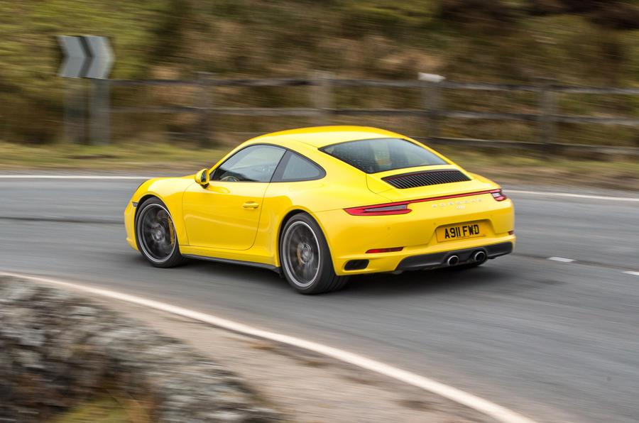Porsche 911 C4S rear cornering