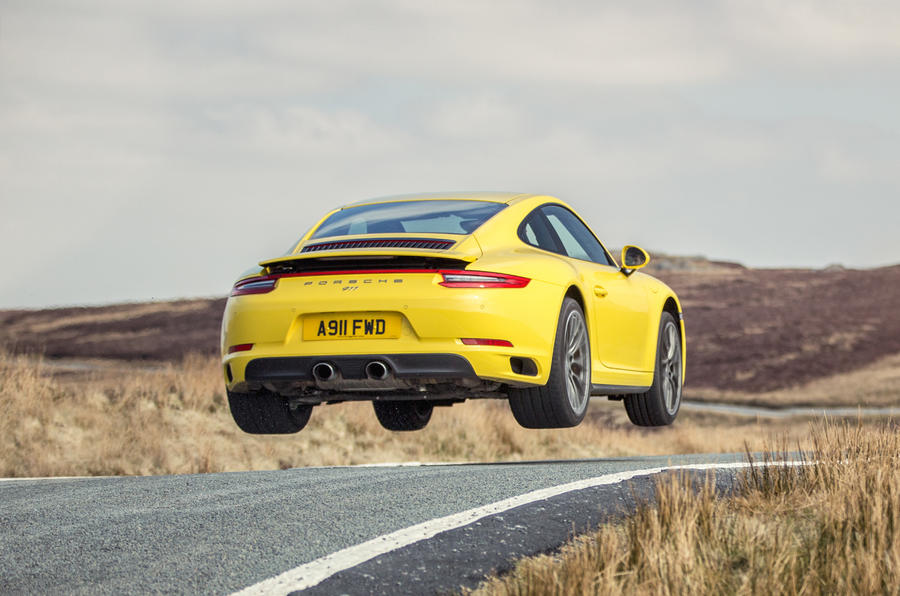 Porsche 911 C4S getting air